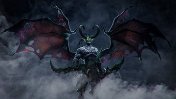 魔兽争霸3重制版伊利丹亮相,恶魔造型霸气十足!